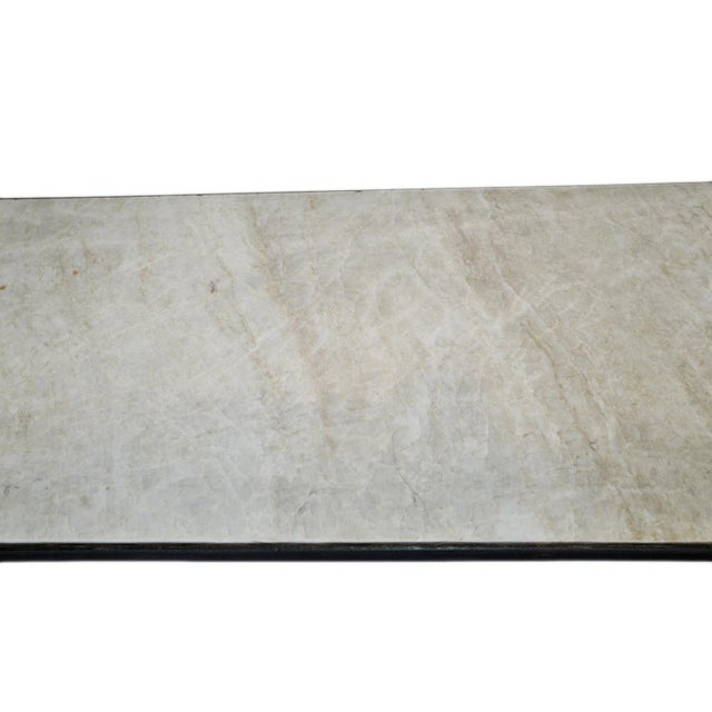 Vintage Modern Marble & Iron Console For Sale - Image 9 of 10
