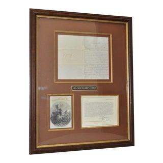 Framed U.S. Civil War Soldier's Letter C.1860s For Sale