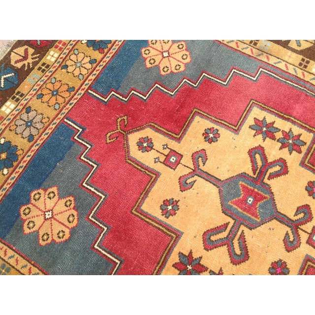Vintage Anatolian Area Rug - 4′ × 7′7″ For Sale - Image 5 of 7
