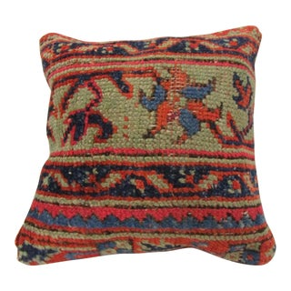 Vintage Hand-Knotted Floral Decorative Turkish Pillow Cover For Sale