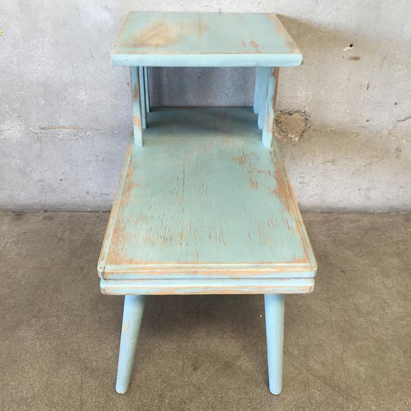 Upcycled Mid Century Side Table - Image 6 of 7