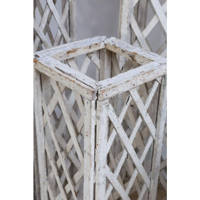 1940s Vintage French Painted Trellis For Sale - Image 5 of 13