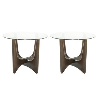Adrian Pearsall for Craft Associates Walnut End Tables-a Pair For Sale