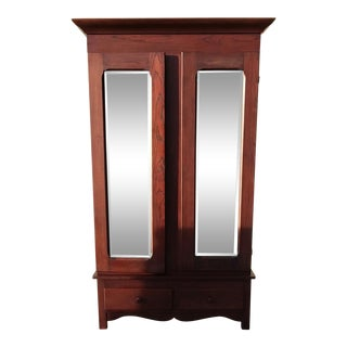 20th Century Traditional Crescent Line Armoire Wardrobe For Sale
