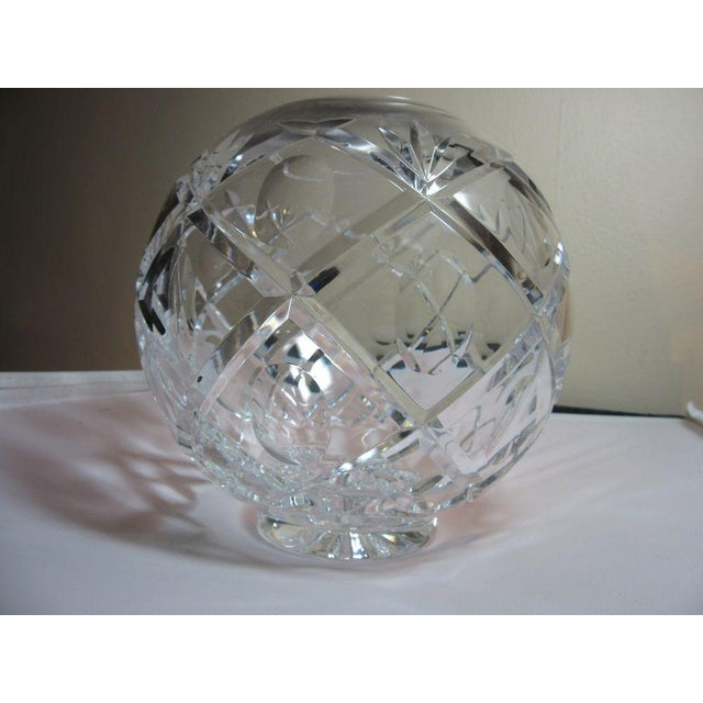 Clear Cut Crystal Rose Bowl Vase - Image 9 of 10