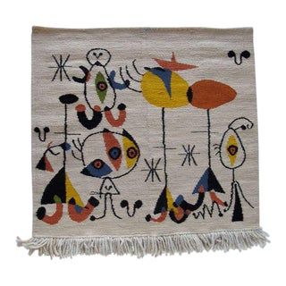 A Vintage Miro Style Tapestry