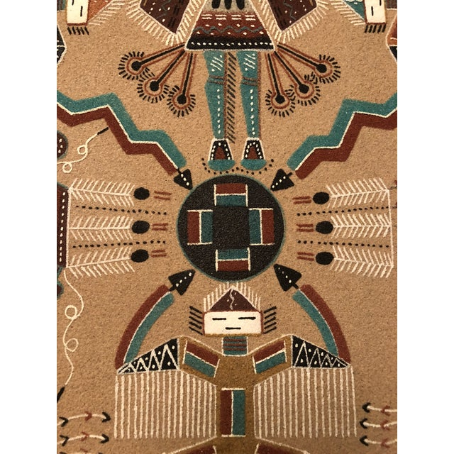 New Mexico Navajo Sand Painting by Rosabelle Ben For Sale - Image 5 of 11
