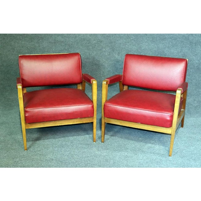 Mid-Century Modern Tiger Maple Lounge Chairs - a Pair For Sale - Image 10 of 10