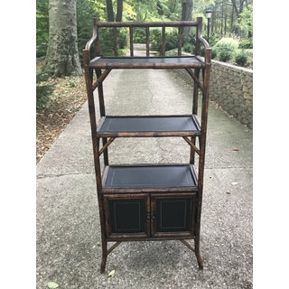 1930's Vintage Three-Tier Bamboo Etagere Preview