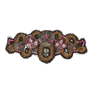 Antique Beaded Embroidered Applique