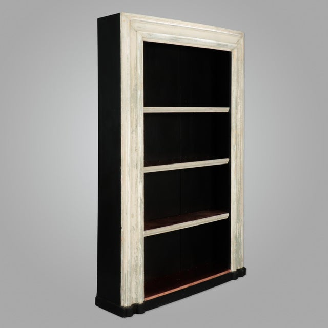 British Colonial 19th Century Door Frame Bookcase with Copper Lined Shelves For Sale - Image 3 of 11