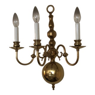 Mid 20th Century Brass Wall Sconce For Sale