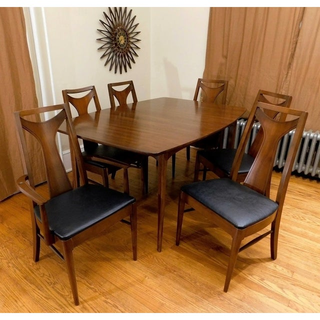Mid-Century Modern Kent Coffey Perspecta Dining Set - Image 7 of 7