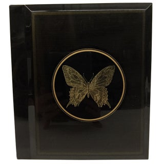 Mid Century Papillon Otagiri Japan Lacquer Photo Holder For Sale