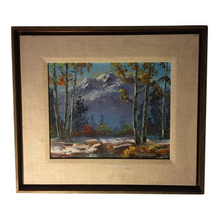 Vintage Impressionist Oil Painting on Board Signed by Artist For Sale