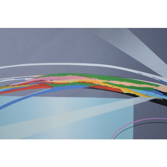 """1980s """"Tiko"""" Modern Abstract Geometric Limited Edition Lithograph Signed Elba Alvarez For Sale - Image 5 of 7"""