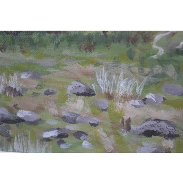 Oak Meadow Acrylic Painting For Sale - Image 4 of 6