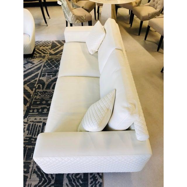 21st Century C&b Italia Gurian White Leather Italian Sofa For Sale - Image 9 of 13