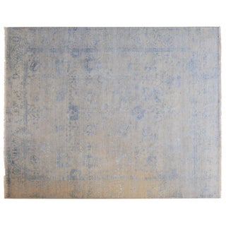 Stark Studio Rugs Contemporary Oriental Wool, Viscose and Cotton Rug - 9′10″ × 14′ For Sale