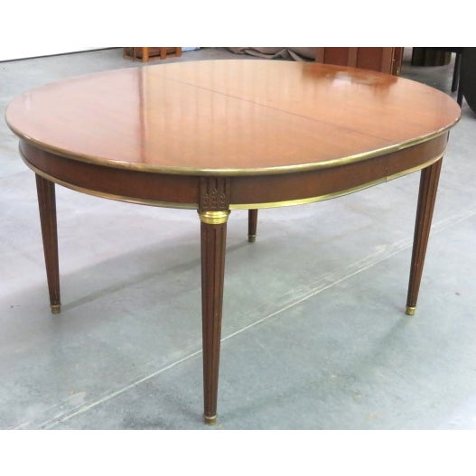 Louis XVI Style Bronze Mounted Dining Table - Image 4 of 8
