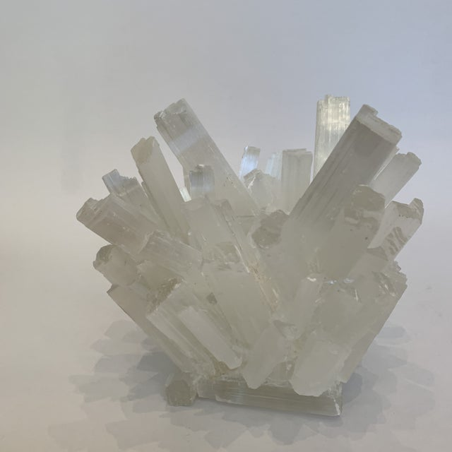 This handcrafted selenite crystal votive is truly a work of art! Each piece is hand selected by the artist, making this a...