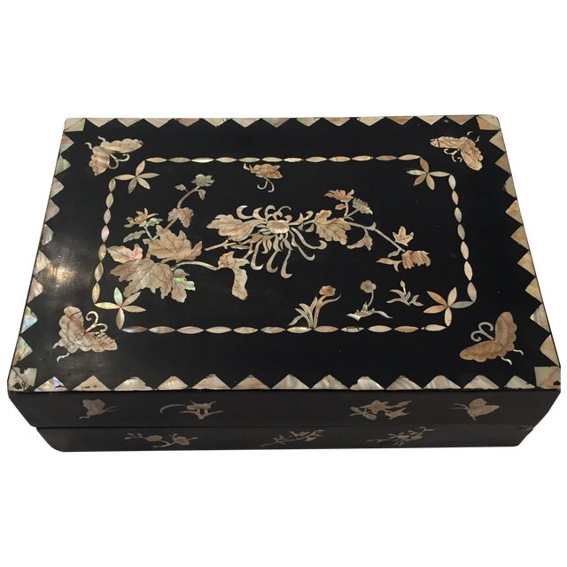 Mother of Pearl Decorative Box - Image 1 of 6
