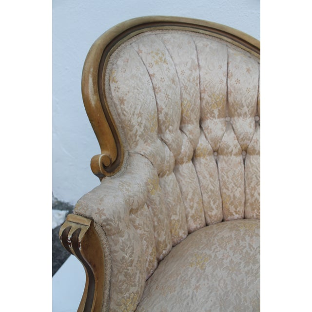 French Antique Carved Loveseat - Image 8 of 11