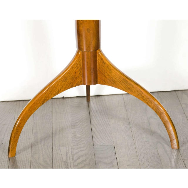 Mid-Century Modernist Burled Walnut Tripod Table by Ian Ingersoll For Sale - Image 4 of 6