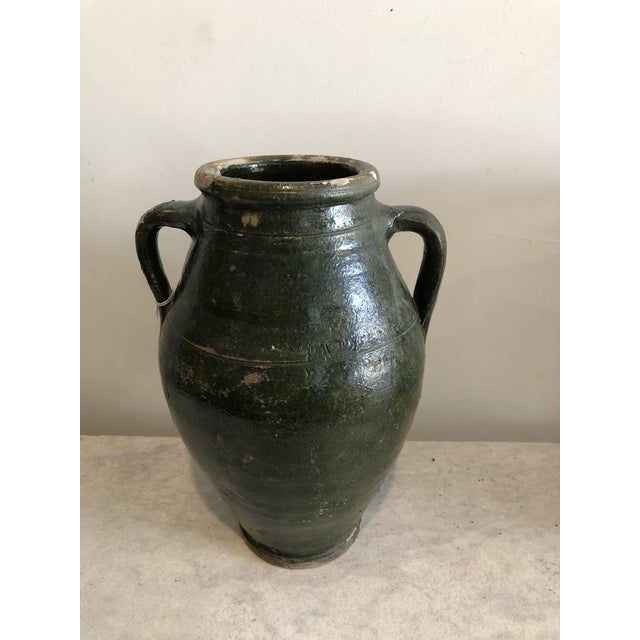 Early 20th Century Early 20th Century Vintage Dark Glaze Olive Jars - Set of 3 For Sale - Image 5 of 13