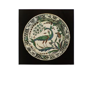 "Rare ""Polychrome Faience Dish From Iznik, 16th C."", Original Swiss Photogravure, C.1940s For Sale"