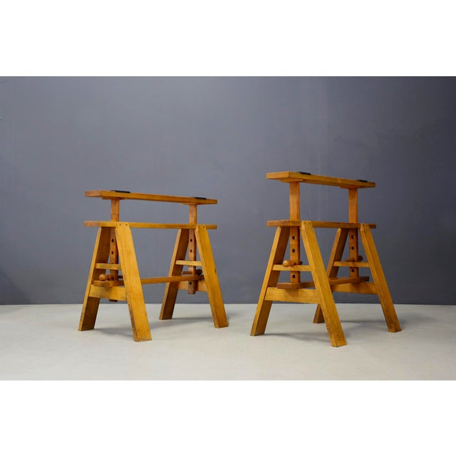 1970s Pair of MidCentury Easels for Leonardo Table by Achille Castiglioni for Zanotta For Sale - Image 5 of 8