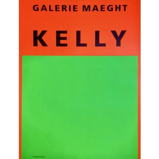 Original Ellsworth Kelly 1964 Lithograph Poster Print, Galerie Maeght Paris Exhibition For Sale