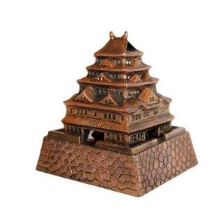 Vintage Japanese Metal Pagoda Incense Burner For Sale