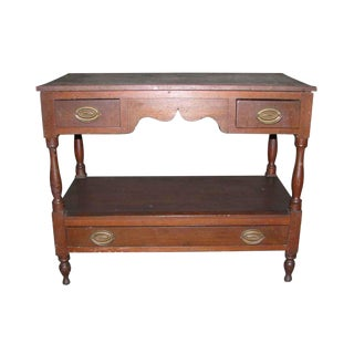 Empire Two Tiered Console Table For Sale