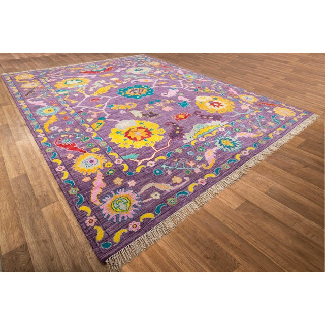 Contemporary Contemporary Turkish Oushak Rug - 10′4″ × 13′4″ For Sale - Image 3 of 8