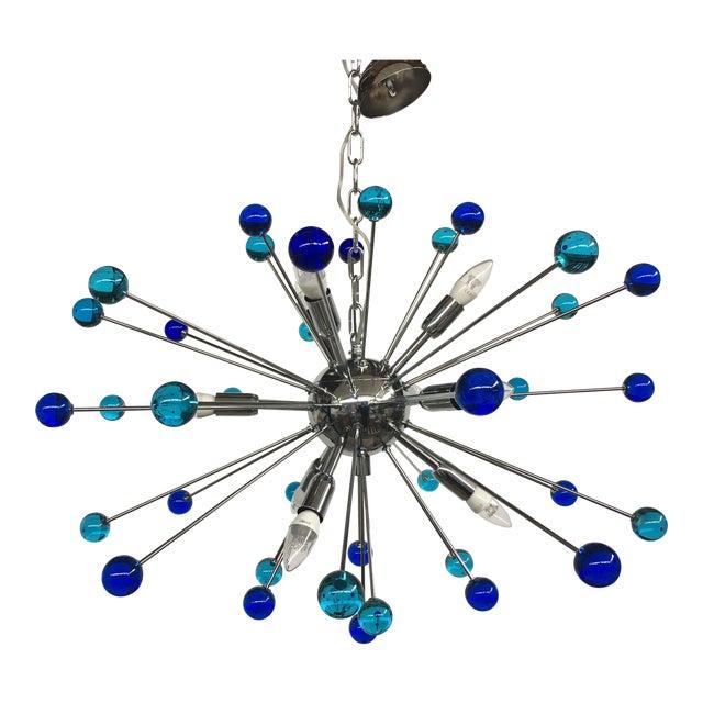 Contemporary Murano Glass Triedo Sputnik Chandelier For Sale