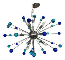Image of Blue Chandeliers