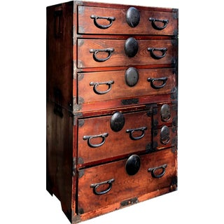 1910s Japanese Isho Tansu Chest of Drawers