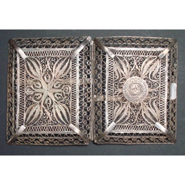 Vintage Filigree Silver Cigarette Case - Image 6 of 6