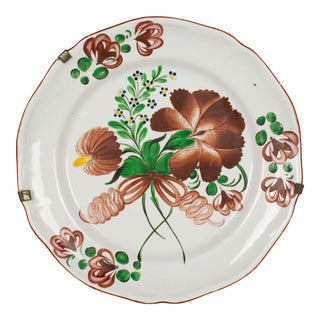 19th Century French Faience Decorative Plate For Sale
