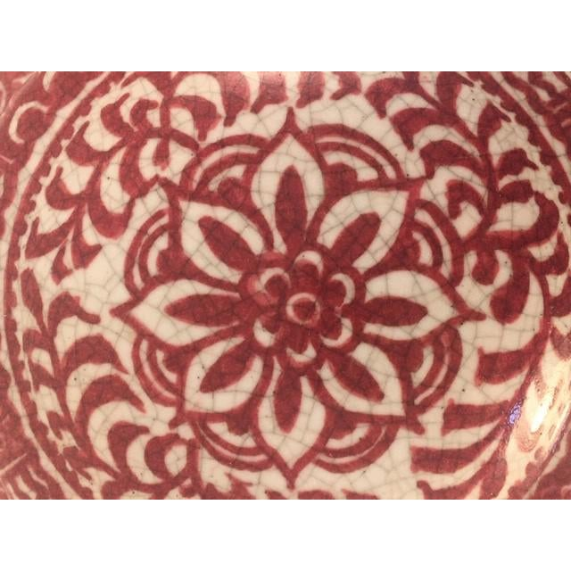 Delft 1950s Delft Red & White Lidded Bowl For Sale - Image 4 of 9