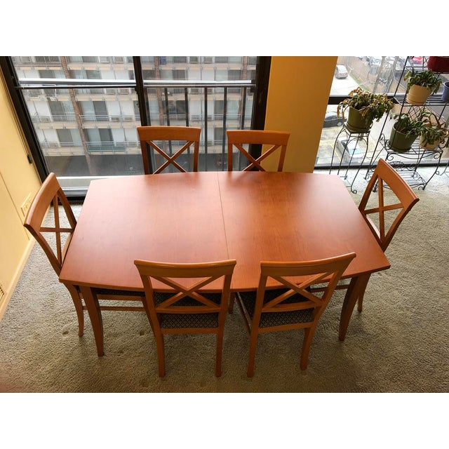 Brown Transitional Dania Dining Set - 7 Pieces For Sale - Image 8 of 8