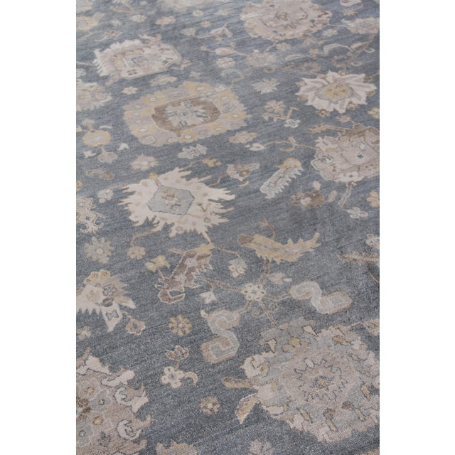 Not Yet Made - Made To Order Chester Hand knotted Bamboo/Silk Medium Blue Rug-8'x10' For Sale - Image 5 of 8