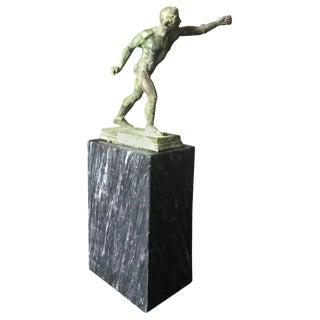 19th Century Antique Grand Tour Borghese Gladiator Bronze Figure Sculpture For Sale
