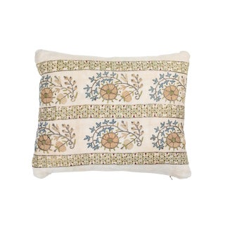 19th Century Turkish Embroidery Pillow For Sale