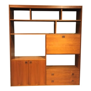 Mid 20th Century Mid-Century Walnut Wall Unit/Bookcase For Sale