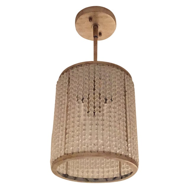 Beaded Pendant Light Fixture - Image 1 of 3