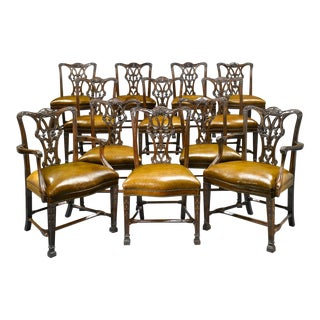 Chippendale-Style Mahogany Dining Chairs For Sale