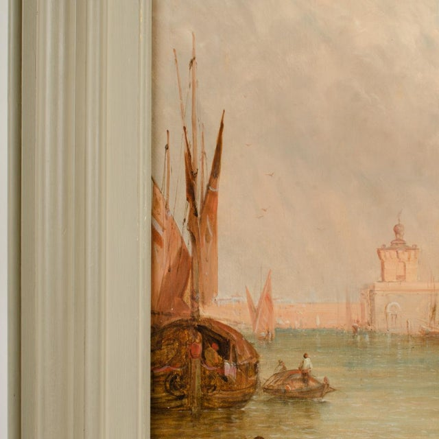 "Late 19th Century ""S. Maria Della Salute, Venice"" Oil Painting by Alfred Pollentine, Framed For Sale - Image 10 of 12"