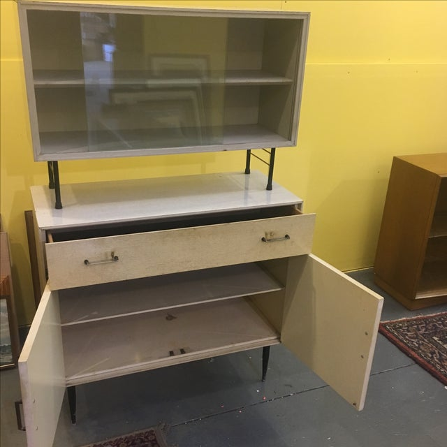 Mid Century Two Piece Cabinet - Image 6 of 9